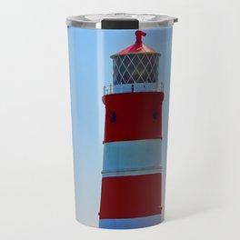 Happisburgh Lighthouse portrait Travel Mug