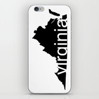 virginia iPhone & iPod Skins featuring Virginia by Isabel Moreno-Garcia