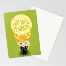 I Do What I Want - Loki Stationery Cards