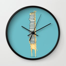 A Book Lover (blue) Wall Clock
