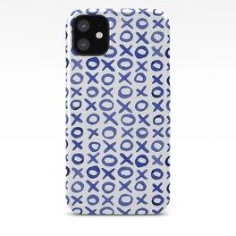 Xoxo valentine's day - blue iPhone Case