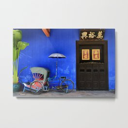 The Blue Mansion in Penang, Malaysia Metal Print