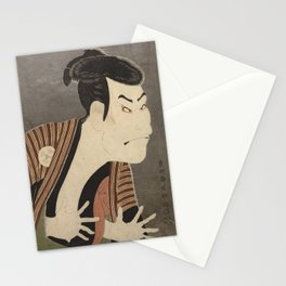 Famous Japanes Art: Tōshūsai Sharaku - Print of Ōtani Oniji III in the Role of the Servant Edobei Stationery Cards