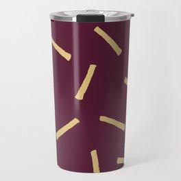 Burgundy Gold Pattern, Modern home decor - Printable gift, Rustic home decor Travel Mug