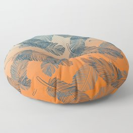 Blue Feathers Pattern Floor Pillow