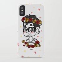 klaine iPhone & iPod Cases featuring Flowers by Sunshunes