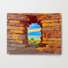 Wupatki Window Metal Print