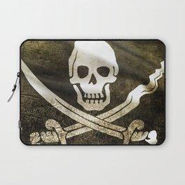 Pirate Skull in Cross Swords Laptop Sleeve
