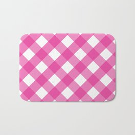 Pink & White Checkered Pattern-Mix and Match with Simplicity of Life Bath Mat