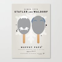 blair waldorf Canvas Prints featuring My MUPPET ICE POP - Statler and Waldorf by Chungkong