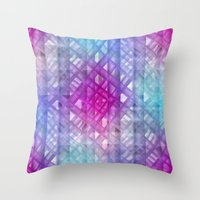 grid Throw Pillows featuring Grid by Christine baessler