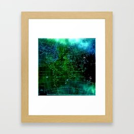 earth map Framed Art Print