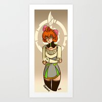 roosterteeth Art Prints featuring Penny Polendina from RWBY with Atlas Symbol. by Roanam