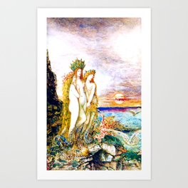 "Gustave Moreau ""The Sirens"" Art Print"