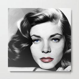 Lauren Bacall Portrait Metal Print