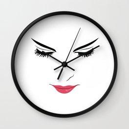 Women Face Fashion Illustration Fashionista Fashion Print Gift Women Home decor Wall artwork Wall Clock