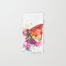 Red Butterfly Hand & Bath Towel