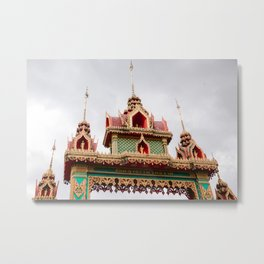 Temple in Thailand Metal Print