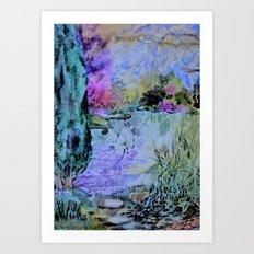 The Garden of Lavender Mist Art Print