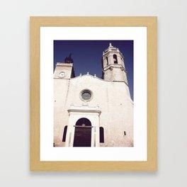 Spanish church Framed Art Print