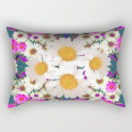 DAISIES & FUCHSIA COSMO FLOWER GARDEN Rectangular Pillow