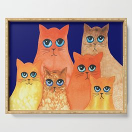 Annapolis Whimsical Cats Serving Tray
