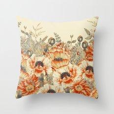 Vintage Garden 24 Throw Pillow