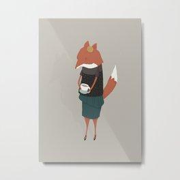 Audrey Enjoys Her Cup of Tea Metal Print