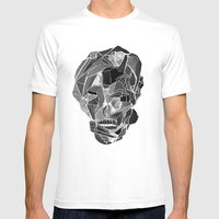 Death gives no reason MEDIUM White Mens Fitted Tee
