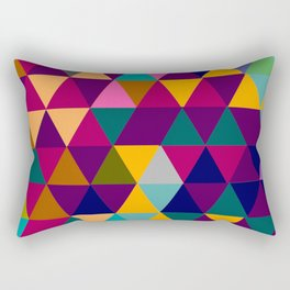 Multicolor triangle shapes pattern Rectangular Pillow