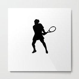 Tennis player silhouette.Sport tshirt  Metal Print
