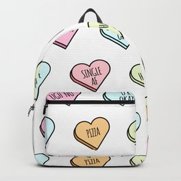 Sassy Valentines Candy Heart Pattern Backpack