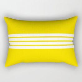 Classic White Stripes on Yellow Rectangular Pillow