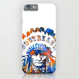 Southeast Native American Logo Design by Sharon Cummings iPhone Case