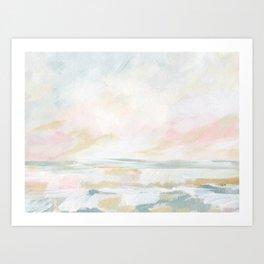 Golden Hour - Pastel Seascape Art Print