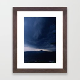 WHEN THE SKY IS ANGRY Framed Art Print