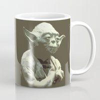yoda Mugs featuring Yoda by DisPrints