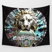 lions Wall Tapestries featuring LIONS by infloence