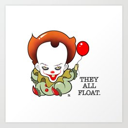 Pennywise From The Movie IT Art Print