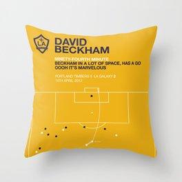 Beckham Goal Throw Pillow