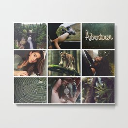 Forest Adventure Moodboard Metal Print