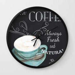 Retro Chalkboard Coffee 1 Wall Clock