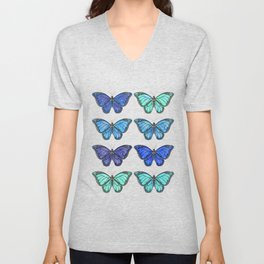 Monarch Butterfly Collection - Blue Unisex V-Neck