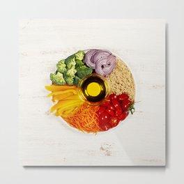Vegetarian food bowl Metal Print