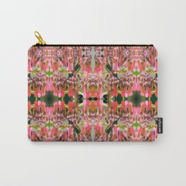 Pink Floral Pattern Carry-All Pouch