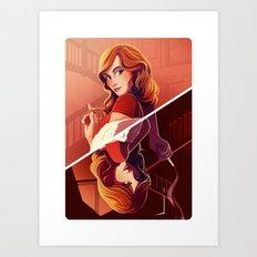 Miss Scarlett Art Print