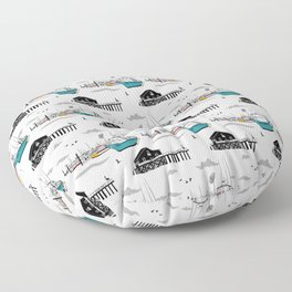 Tillamook Coast Travel Print Floor Pillow