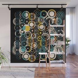 Circles Galore in Teal Wall Mural