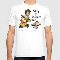 Sally and Bubba SMALL White Mens Fitted Tee