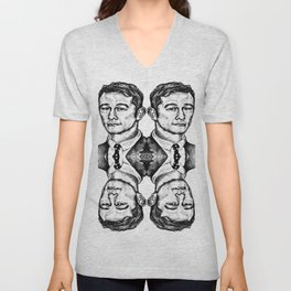 Joseph Gordon-Levitt collage Unisex V-Neck